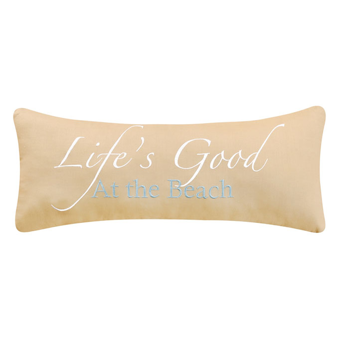 Life's Good At The Beach Pillow Thumbnail