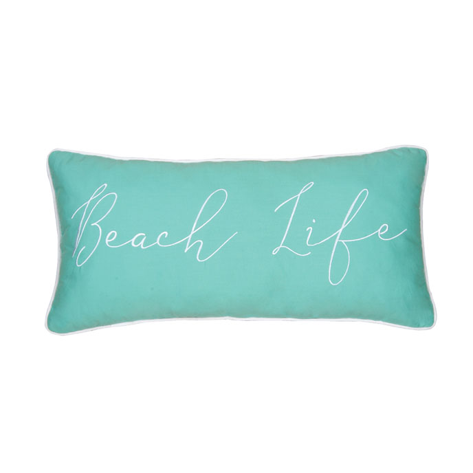 Beach Life Embroidered Pillow Thumbnail