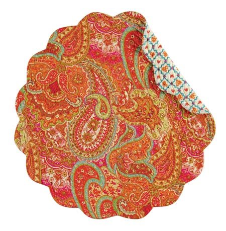 Veda Round Quilted Placemat Thumbnail