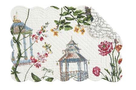 Garden Folly Rectangular Quilted Placemat Thumbnail