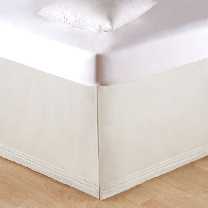Soft White Tailored King Bed Skirt Thumbnail