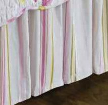 Liliann Stripe King Bedskirt Thumbnail