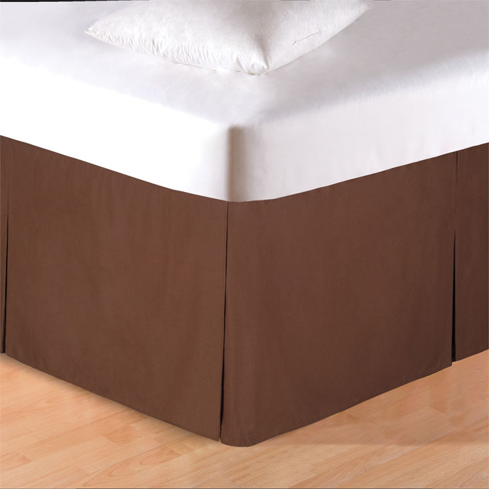 Brown Twin Bed Skirt Thumbnail