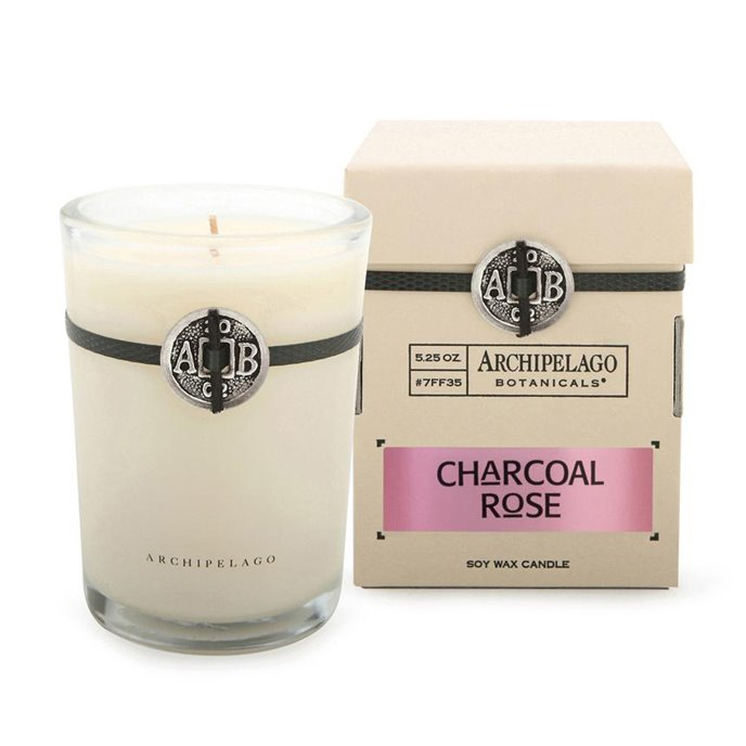 Archipelago Charcoal Rose Soy Boxed Candle Thumbnail