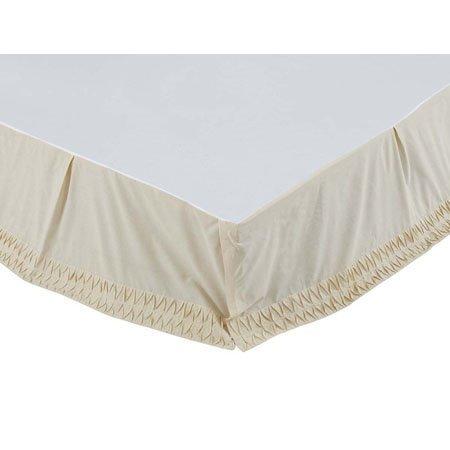 Adelia Creme Twin Size Bed Skirt Thumbnail