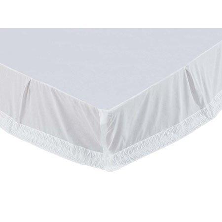 Adelia White King Size Bed Skirt Thumbnail