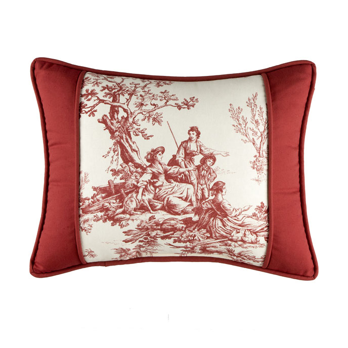 Bouvier Red Breakfast Pillow Thumbnail