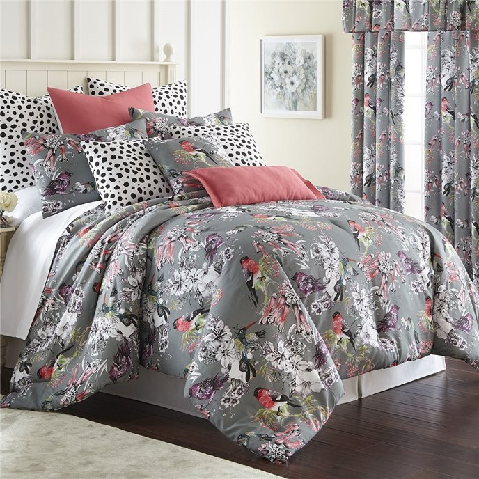 Birds In Bliss Comforter Set Super Queen Size Thumbnail