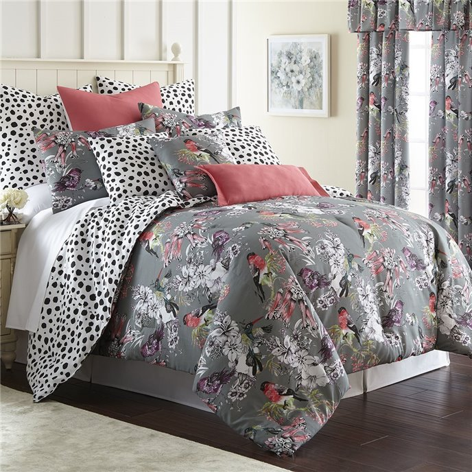 Birds In Bliss Comforter Set Reversible King Thumbnail