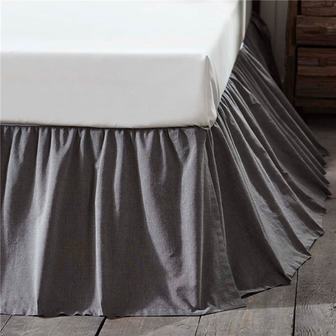 Black Chambray Queen Bed Skirt Thumbnail
