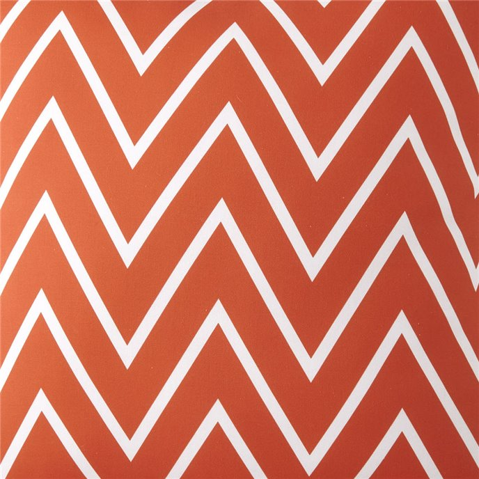 Flamingo Palms ORANGE ZIGZAG Fabric Per Yard Thumbnail