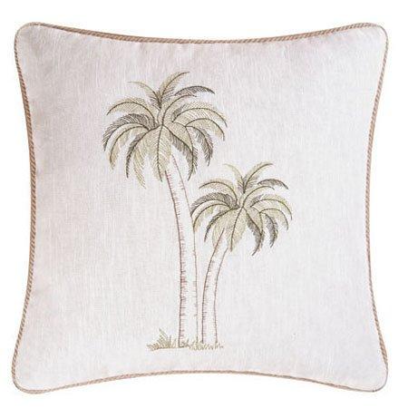 Barbados Sea Pair of Palms Pillow Thumbnail