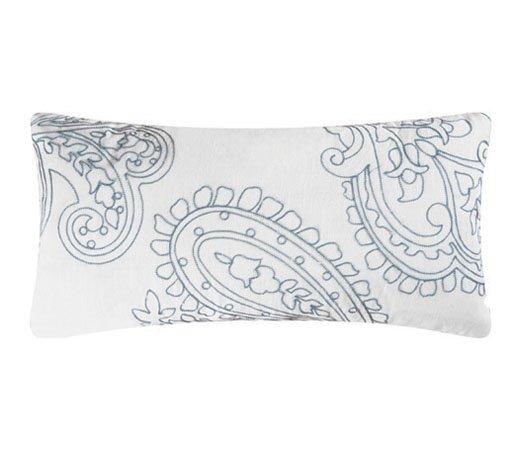 Aqua Paisley Pillow Thumbnail