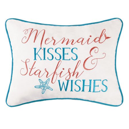 Dancing Waters Mermaid Kisses Pillow Thumbnail