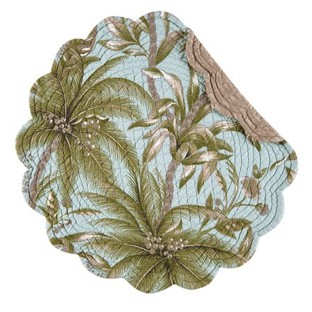 Barbados Sea Round Quilted Placemat Thumbnail