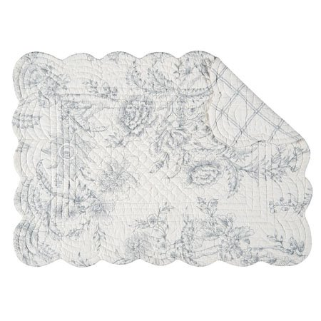 Clementina Cement Rectangular Quilted Placemat Thumbnail