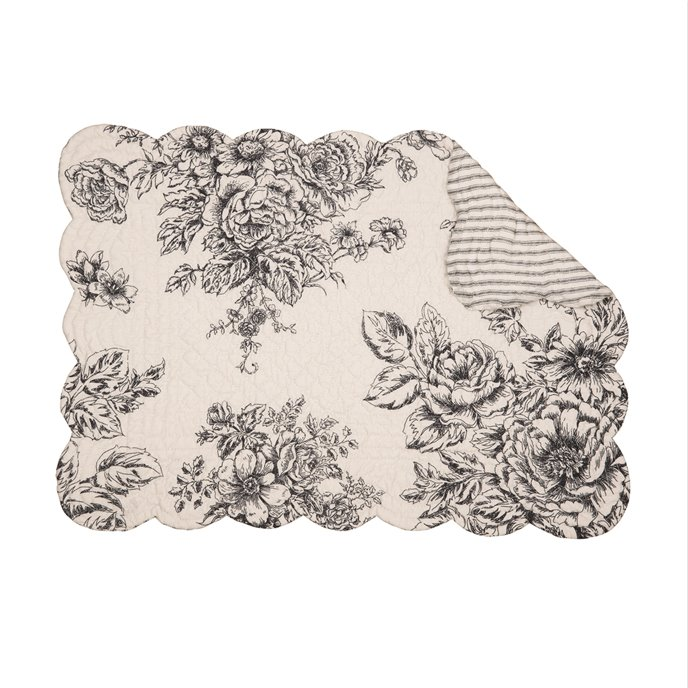 Nelly Onyx Rectangular Quilted Placemat Thumbnail