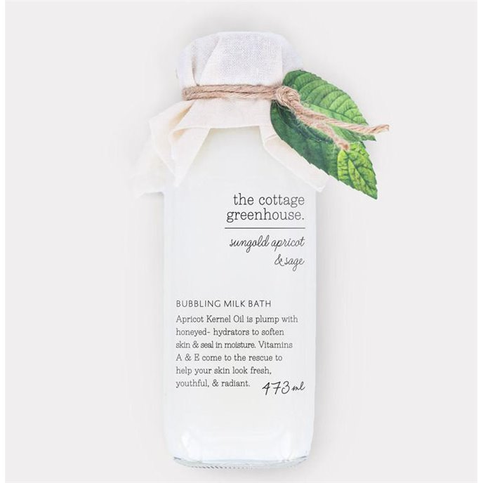 The Cottage Greenhouse Sungold Apricot & Sage Bubbling Milk Bath Thumbnail
