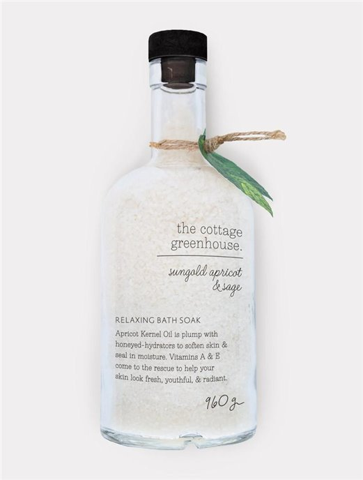 The Cottage Greenhouse Sungold Apricot & Sage Relaxing Bath Soak Thumbnail