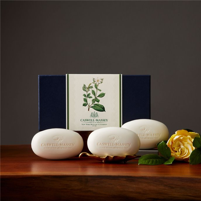Caswell-Massey NYBG Gardenia Box of Three Soaps Thumbnail