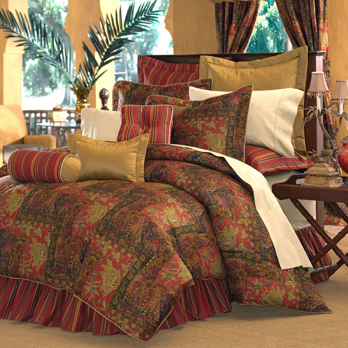 "Kalinjar King Comforter Set 18"" Drop Bed Skirt Thumbnail"