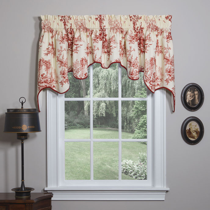 Bouvier Red Empress Swag Valance Thumbnail