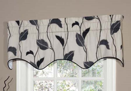 Yvette Eclipse Lined Empress Filler Valance Thumbnail