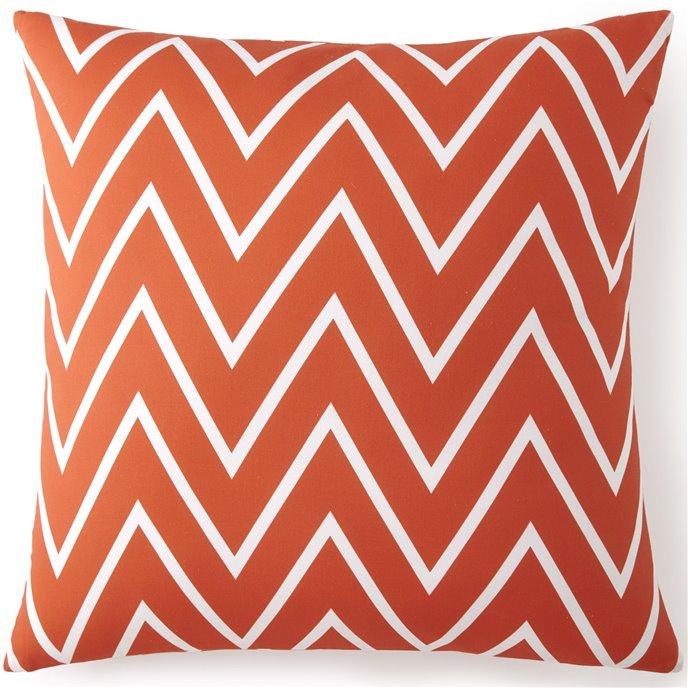 Flamingo Palms Euro Sham - Orange Zigzag Thumbnail