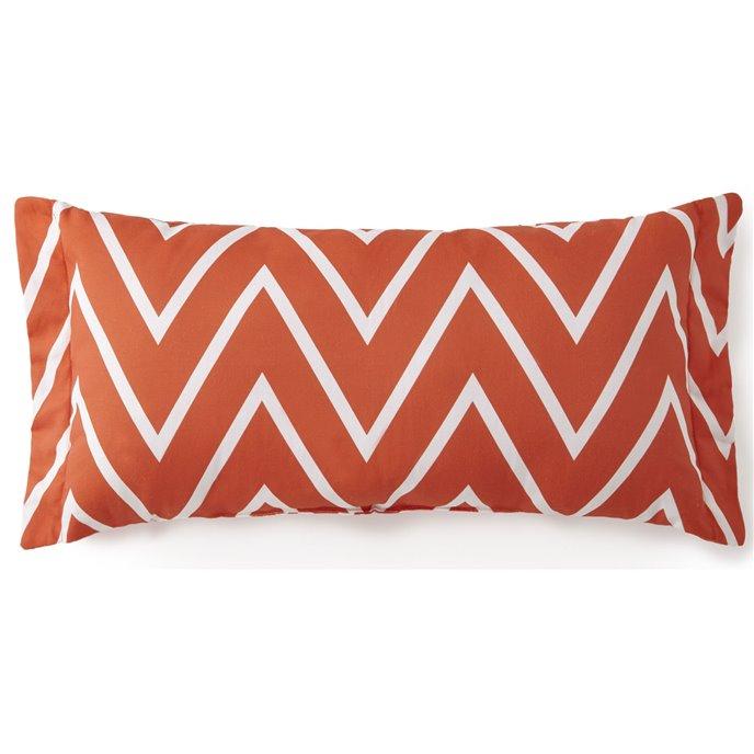 Flamingo Palms Long Rectangle Cushion - Orange Zigzag Thumbnail