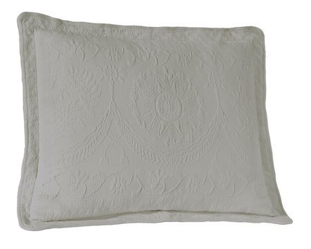 King Charles Matelasse Grey King Size Sham Thumbnail