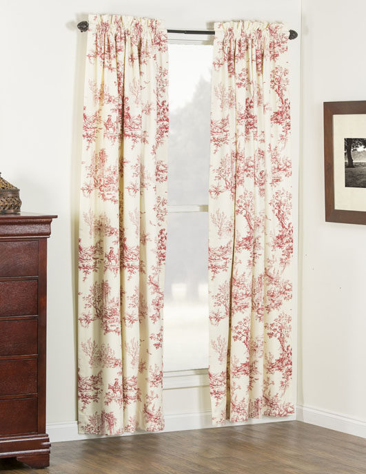 Bouvier Red Curtain Panel Pair Thumbnail