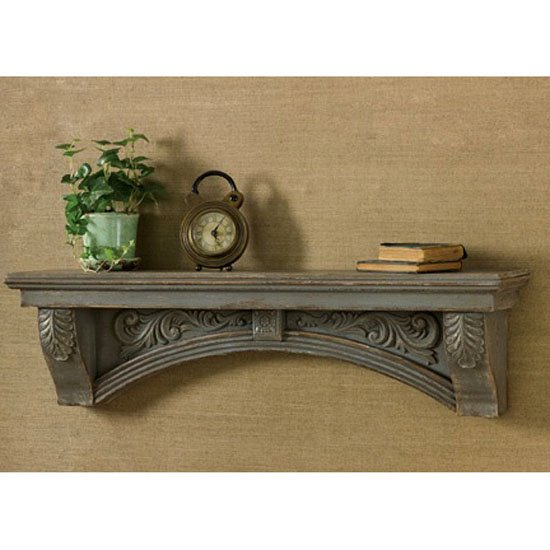 Mantle Shelf Aged Gray Thumbnail
