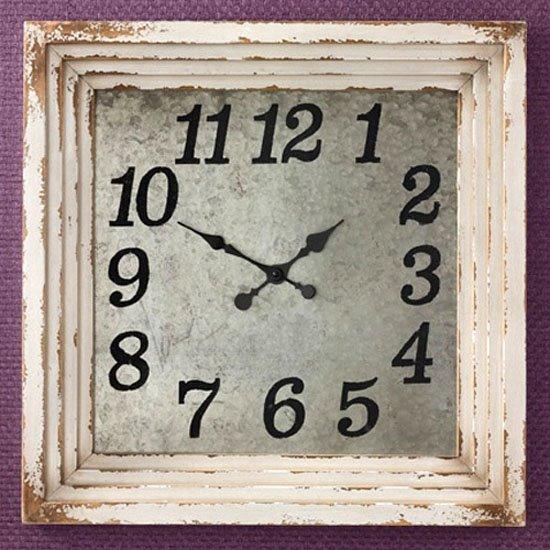 Wall Clock 20 Aged Cream Thumbnail