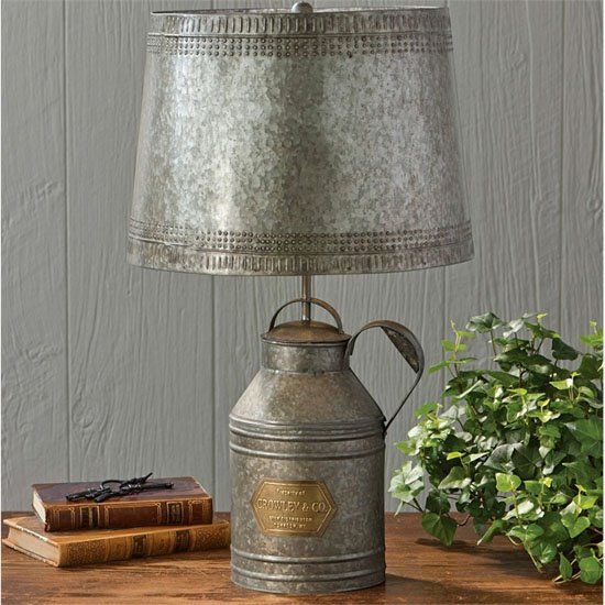 Milkcan Lamp Tin with Tin Shade Thumbnail