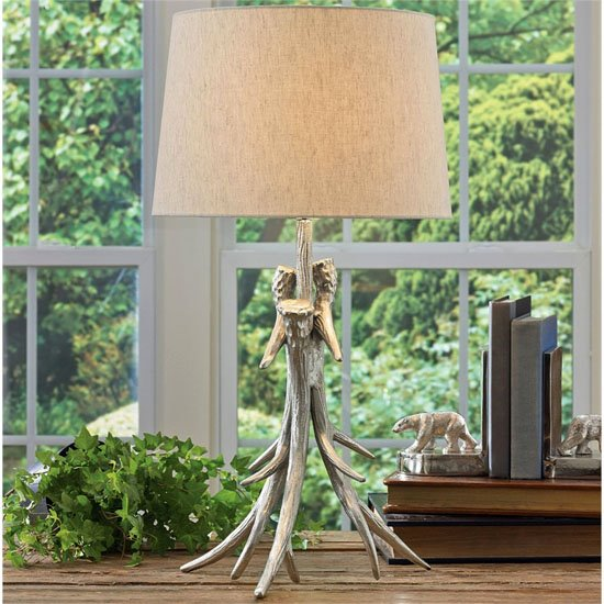 Antler Lamp with shade Thumbnail