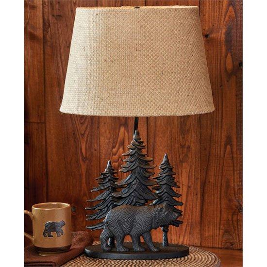Black Bear Lamp with Shade Thumbnail