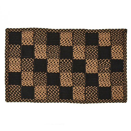 Square Block Braided Rug 27X45 Thumbnail