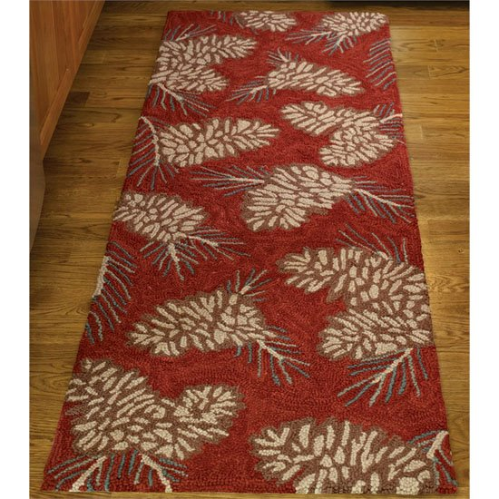 Pinecone Hook Rug Runner 24X72 Thumbnail