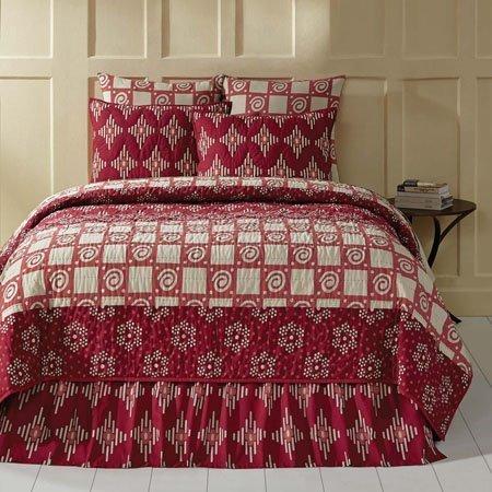 Paloma Crimson Luxury King Size Quilt Thumbnail