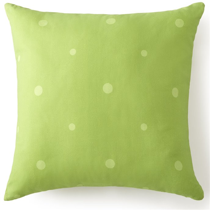 "Poppy Plaid Square Pillow 18""x18"" - Green Polka Dot Thumbnail"