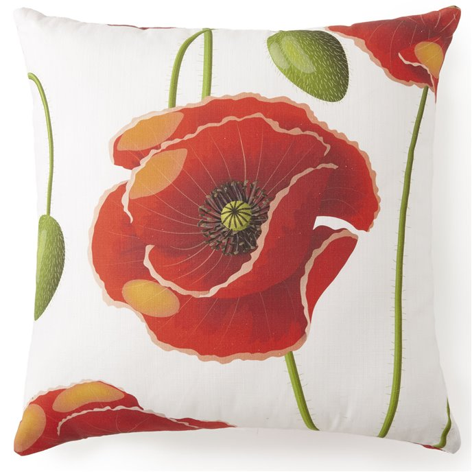 "Poppy Plaid Square Pillow 20""x20"" - Poppy Pattern Thumbnail"