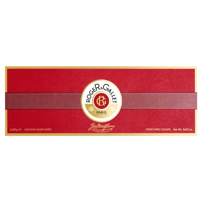 Jean Marie Farina Extra Vieille Perfumed Soaps Box of 3 by Roger & Gallet (3 x 3.5 oz) Thumbnail