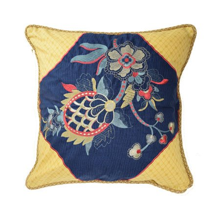 Waverly Rhapsody 20 inch Embroidered Decorative Accessory Pillow Thumbnail