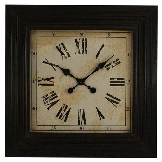 Black Square Wood Clock Thumbnail