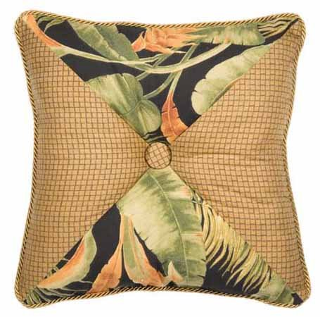 La Selva Black Square Button Pillow Thumbnail