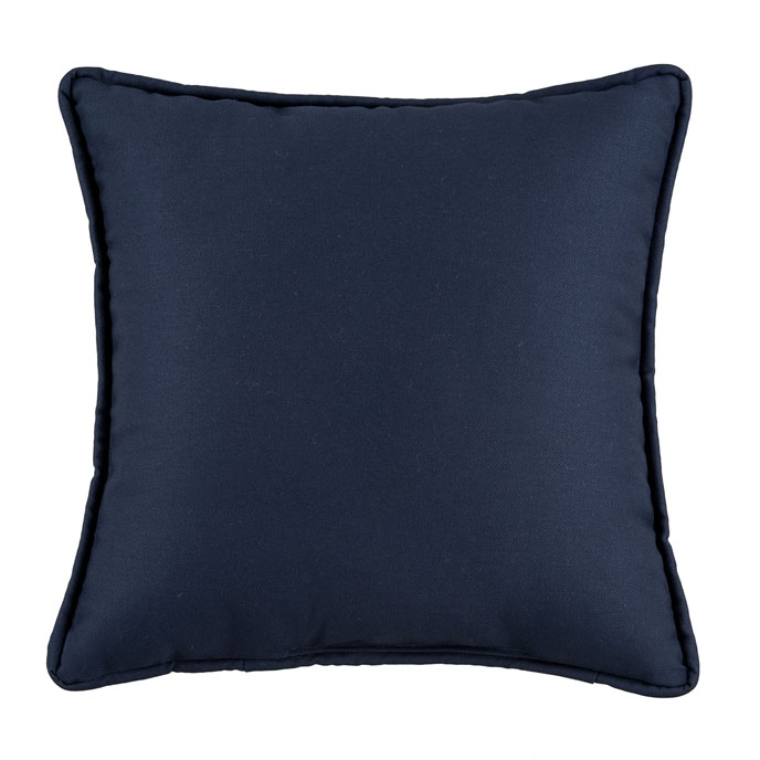 Park Avenue Navy Square Pillow Thumbnail