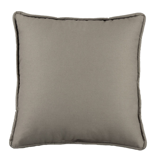 Park Avenue Grey Square Pillow Thumbnail