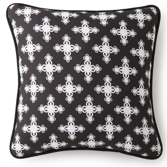 "Scrollwork Square Cushion 20""x20"" - Cross Pattern Thumbnail"