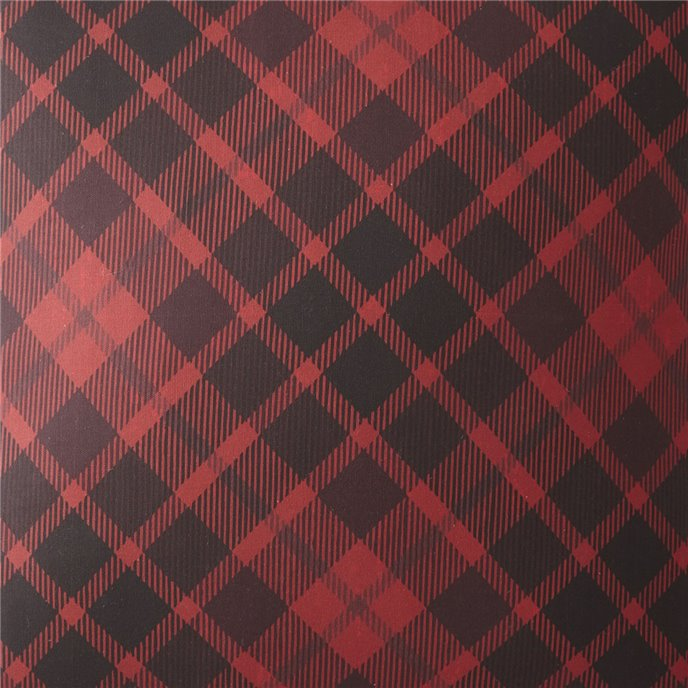Scrollwork Fabric Per Yard - Red Plaid Thumbnail