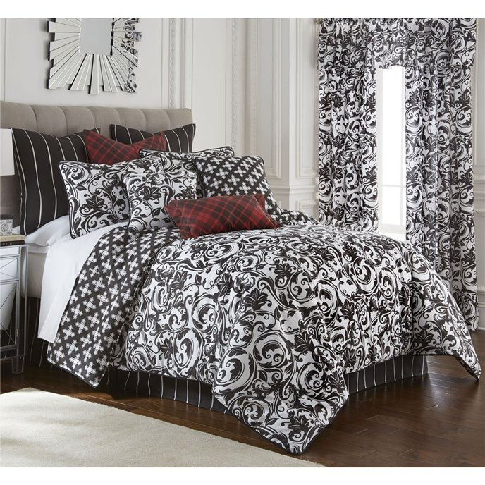 Scrollwork Comforter Set Reversible California King Thumbnail